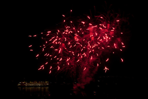 fireworks over the ferry