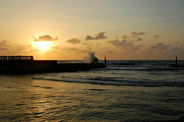 Tel Aviv Harbor at sunset