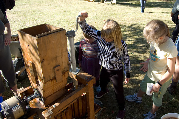 kids loved the apple press