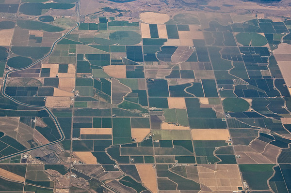 window seat view of the American Heartland